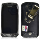 Kyocera Duraforce Pro Leather Fitted Case with Metal Clip