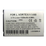 LG Vortex/VS660 Standard Replacement Battery