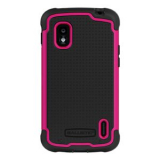 LG Nexus 4 Ballistic SG Series Case - Black/Pink
