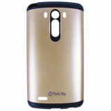 LG G3 TekYa Vega Series Case - Metallic Gold/Black