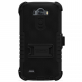 LG G3 Beyond Cell TriShield Kombo Case - Black/Black