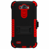 LG G3 Beyond Cell TriShield Kombo Case - Black/Red