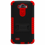LG G3 Beyond Cell TriShield Case - Black/Red