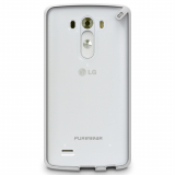 LG G3 PureGear Slim Shell Case - Clear/White