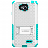 LG L70 Beyond Cell Tri Shield Case - White/ Light Blue