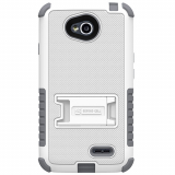 LG L70 Beyond Cell Tri Shield Case - White/Gray