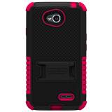 LG L70 Beyond Cell Tri Shield Case - Black/Hot Pink