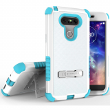 LG G5 Beyond Cell Tri Shield Case - White/Light Blue