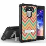 LG G5 Beyond Cell Tri Shield Case - Pastel Chevron