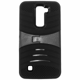 LG K7 Kickster Series Case - Black/Black