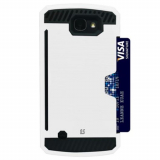 LG K4 Beyond Cell Shell Case Rugged Series Case - White/Black