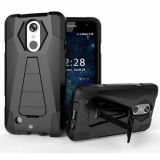 LG K8 2017 Beyond Cell Shell Case Hyber 2 Series Case - Black/Black