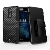 LG K8 2017 Beyond Cell Shell Case Armor Kombo with Kickstand - Carbon Fiber