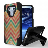 LG G6 Beyond Cell Shell Case Hyber 2 Series Case - Pastel Chevron