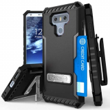 LG G6 Beyond Cell Tri Shield Kombo Case - Black/Black