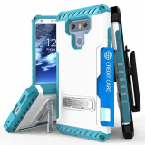 LG G6 Beyond Cell Tri Shield Kombo Case - White/Light Blue