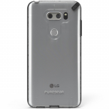 LG V30 PureGear Slim Shell Case - Clear/Black