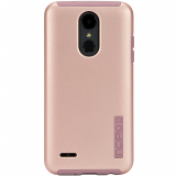 LG K8 2018 Incipio DualPro Series Case - Iridescent Rose Gold/Pink