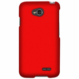 LG Optimus L70 Rubberized Snap On Shield - Red