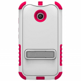 Motorola Moto E Beyond Cell Tri Shield Case - White/Hot Pink