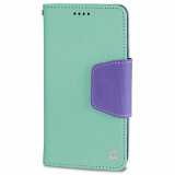 Motorola Moto X (2nd Gen) Beyond Cell Infolio Leather Case - Mint/Purple