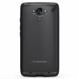 Motorola Droid Turbo PureGear Slim Shell Case - Clear/Black