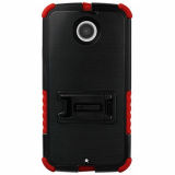 Motorola Moto X (2nd Gen) Beyond Cell Tri Shield Case - Black/Red