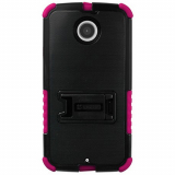 Motorola Moto X (2nd Gen) Beyond Cell Tri Shield Case - Black/ Hot Pink