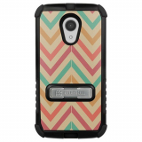 Motorola Moto G 2nd Generation Beyond Cell Tri Shield Case - Pastel Chevron