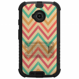 Motorola Moto E (2nd Gen) Beyond Cell Tri Shield Case - Pastel Chevron