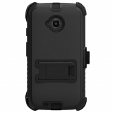 Motorola Moto E (2nd Gen) Beyond Cell Tri Shield Kombo Case - Black/Black