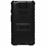 Motorola Droid Maxx XT1080 Beyond Cell Tri Shield Case - Black/Black