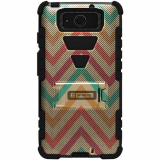 Motorola Droid Maxx XT1080 Beyond Cell Tri Shield Case - Pastel Chevron