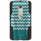 Motorola Droid Maxx 2 Beyond Cell Shell Case Hyber Series Case - Teal Chevron