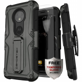 Motorola Moto E5 Play/Cruise Ghostek Iron Armor Series Case - Black/Grey