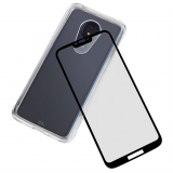 Motorola Moto G7 Power Case-Mate Protection Pack: Tough Clear Series Case & Glass Screen