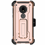 Motorola Moto G7 Play Ghostek Iron Armor 2 Series Case - Rose Gold