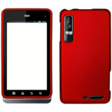 Motorola Droid 3 Snap On Shield - Red