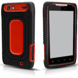 Motorola Droid Razr Duo Shield - Black/Red