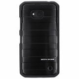 Microsoft Lumia 640 Body Glove Satin Series Case - Black Brushed Metal