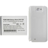 Samsung Galaxy Note 2 6200 mAh Standard Extended Battery With WhiteDoor