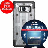 Samsung Galaxy S8 Double Advantage Bundle Tekya Liquid Glass with UAG Plasma- Clear