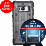 Samsung Galaxy S8 Double Advantage Bundle Tekya Liquid Glass with UAG Plasma- Smoke