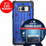 Samsung Galaxy S8 Double Advantage Bundle Tekya Liquid Glass with UAG Plasma- Cobalt
