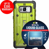 Samsung Galaxy S8 Double Advantage Bundle Tekya Liquid Glass with UAG Plasma- Citron