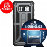 Samsung Galaxy S8 Double Advantage Bundle Tekya Liquid Glass with UAG Monarch- Graphite