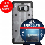 Samsung Galaxy S8+ Double Advantage Bundle Tekya Liquid Glass with UAG Plasma- Clear