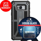 Samsung Galaxy S8+ Double Advantage Bundle Tekya Liquid Glass with UAG Monarch- Graphite