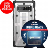 Samsung Galaxy Note 8 Double Advantage Bundle Tekya Liquid Glass with UAG Plasma- Clear