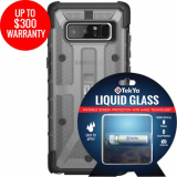 Samsung Galaxy Note 8 Double Advantage Bundle Tekya Liquid Glass with UAG Plasma- Smoke